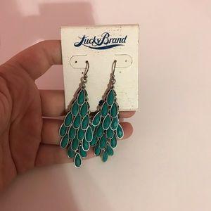 Turquoise lucky brand dangling earrings.